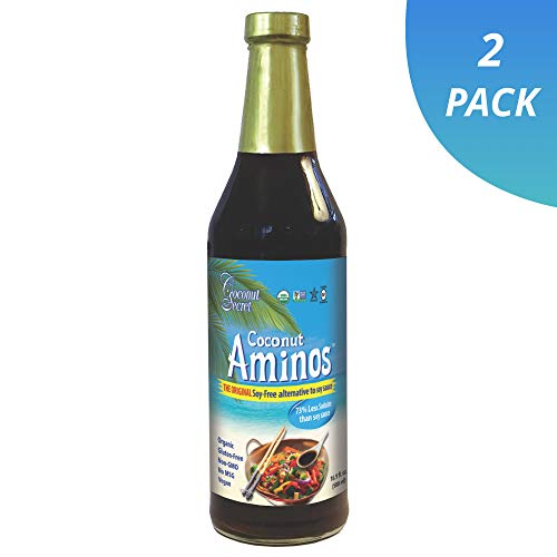 Coconut Secret Coconut Aminos (2 Pack) - 16.9 fl oz - Low Sodium Soy Sauce Alternative, Low-Glycemic - Organic, Vegan, Non-GMO, Gluten-Free, Kosher - Keto, Paleo - 202 Total Servings