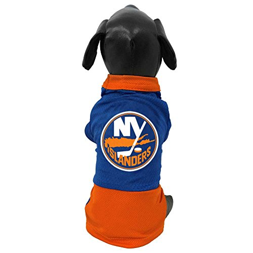 All Star Dogs NHL New York Islanders Athletic Mesh Dog Jersey, Small, - Jerseys Dog Nhl