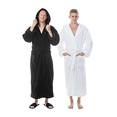 Comfy Robes Personalization Men's Terry Velour Hooded Bathrobe