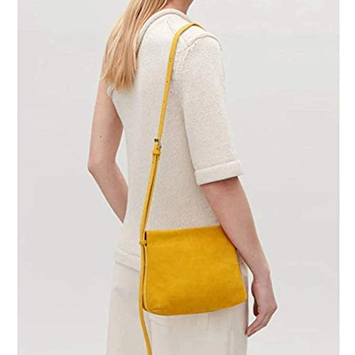 Soft Yellow Shoulder Women's Light Bag Handbag Frosted Body Bag or Cross Small Leather Black Ladies Mini 1qt5S5