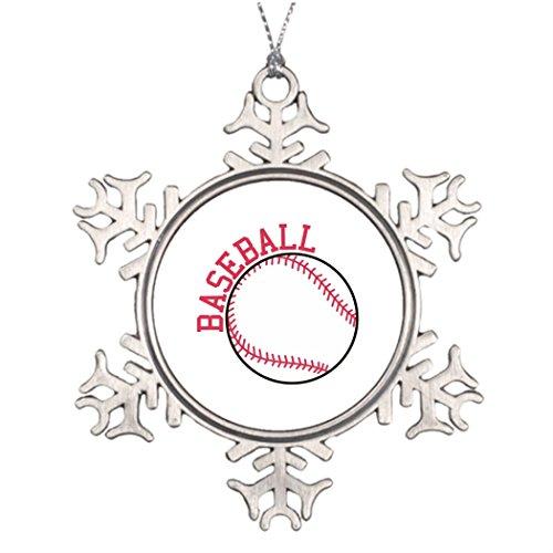 Best Friend Snowflake Ornaments Baseball House Decorations Ball