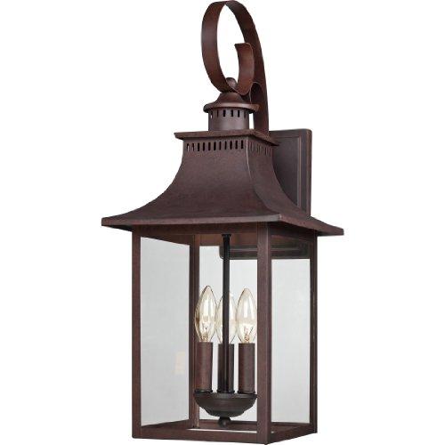 Quoizel CCR8410CU Chancellor Outdoor Lantern Wall Sconce, 3-Light, 180 Watts, Copper Bronze (24