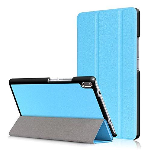 Feicuan Slim Folio Tri-Folding PU Leather Stand Cover for Lenovo TB-8804F TB-8804N / Tab4 8 Plus TB-8704V -Blue by Feicuan