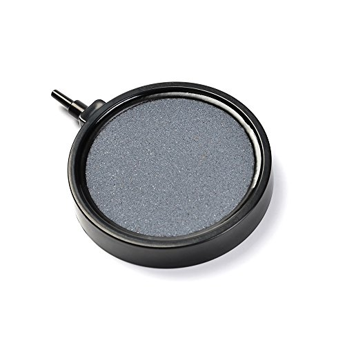 APTWONZ 4-Inch Round Air Stone Disc Bubble Diffuser for Aquarium Fish Tank Hydroponics Pump Ceramic Airstones Air Pump (Circle Air)
