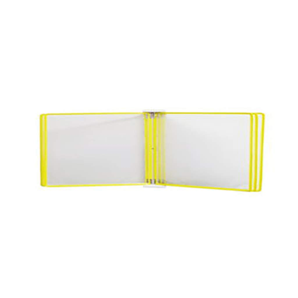 Flip File Holder, Wall-Mounted Magnetic Display (PVC+Metal) 35.524.54.5CM