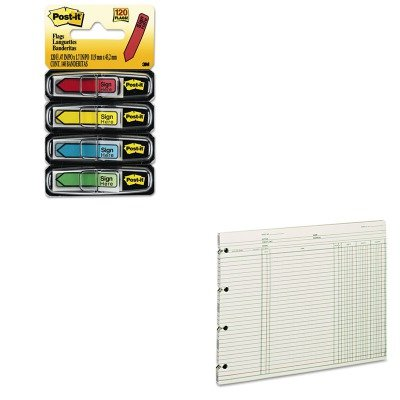 KITMMM684SHWLJGN2D - Value Kit - Wilson Jones Accounting (WLJGN2D) and Post-it Arrow Message 1/2amp;quot; Flags (MMM684SH)