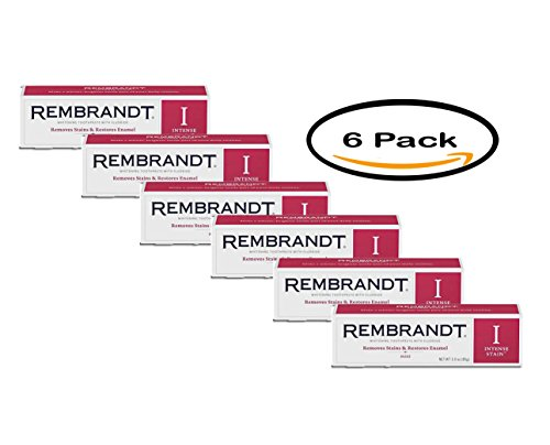 (PACK OF 6 - Rembrandt Intense Stain Whitening Toothpaste, Mint, 3.5 oz)