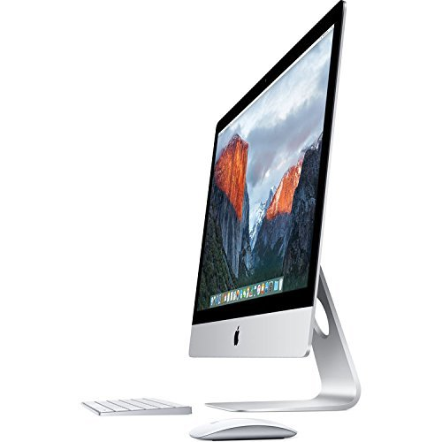 Apple iMac MK482LL/A 27-Inch Retina 5K Display Desktop (Intel Quad-Core i5 3.3GHz, 8GB RAM, 2TB Fusion Drive, Mac OS X), Silver by Apple