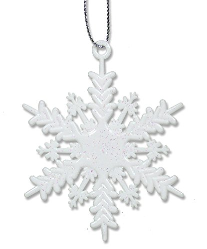 White Snowflake Ornaments - Set of 96 Small (2