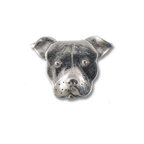 discount Pewter Pit Bull Lapel Pin by The Magic Zoo