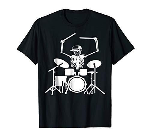 Halloween Costume - skeleton playing drummer T-Shirt for $<!--$17.99-->