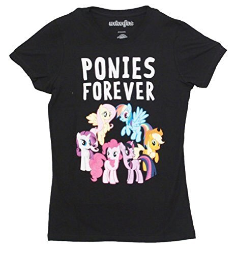 Forever Juniors T-shirt (My Little Pony Ponies Forever Juniors Black T-shirt (Juniors)