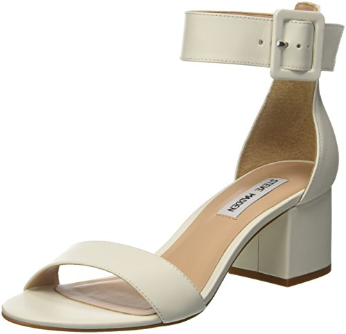 Steve Madden Women's Indigo Open Toe Sandals, Bianco White (White Leather Bianco)