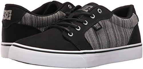 DC Men's Anvil TX SE Skateboarding Shoe, Black/Grey, 8 M US