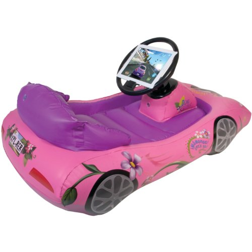 Cta Digital Steering - Dora the Explorer Inflatable Sports Car for iPad