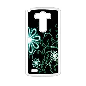 Shining flowers with black background personalized creative clear protective cell phone case for LG G3