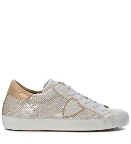 Bronce en blanca Sneaker opaca piel Philippe Classic Model qSxwfRz