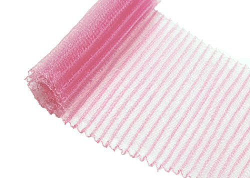 Pleated Crinoline Horsehair Braid for Millinery 6 Wide - Light Pink - Sold by the Yard
