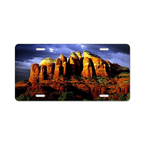 YEX Abstract Red Rocks of Sedona1 License Plate Frame Car Licence Plate Covers Auto Tag Holder 6