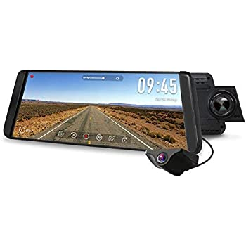 CHICOM 9.66 inch Mirror Dash Cam Touch Full Screen ; 1080P 170° Full HD Front Ca