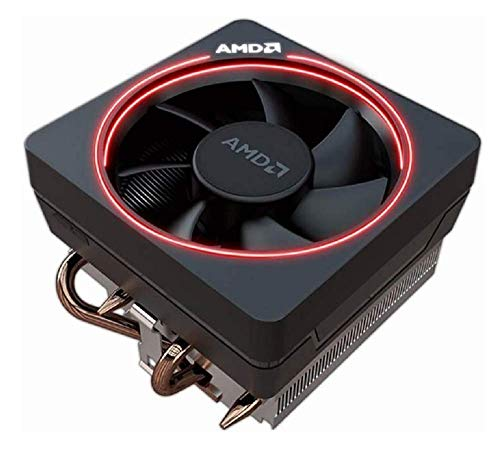 AMD Wraith Max RGB LED Lighting Socket AM4 4-Pin Connector CPU Cooler with Copper Core Base & Aluminum Heatsink & 4.13-Inch Fan for Desktop PC -Bundle with extra Thermal Paste