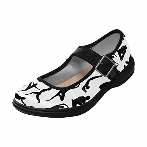 Interestprint Womens Comfort Mary Jane Flats Casual Scarpe Da Passeggio Multi 8