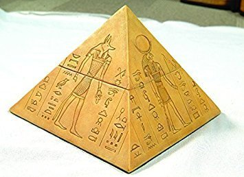 ods Pyramid Shaped Jewelry/Trinket Box Figurine (Pyramid Box)