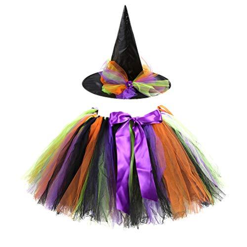 SOIMISS Kinderfeest Tutu Rok Halloween Witch Dress Set Tutu Festival Party COS Witch Puff Skirt Kids Set voor Party…