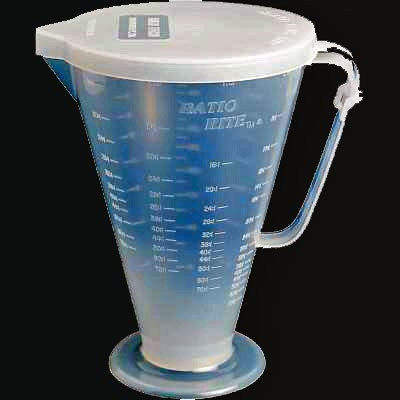 Pit Posse PP3240 Ratio Rite Premix Gas Fuel Oil Mixer Mixing 2-Stroke Measuring Cup With Lid