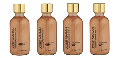 - Lot of 4 Josie Maran Moroccan Radiance Body Oil Moisturizer Rose Gold Radiance & Creme Brulee Scent 4.0 oz each