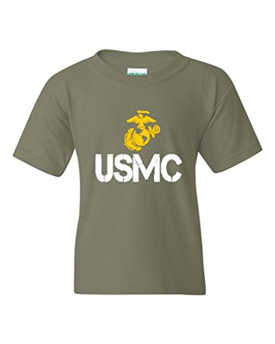 - Xekia USMC US Marine Corps People Fashion Clothing Best Friend Xmas Mothers Day Gifts Unisex Youth Kids T-Shirt Tee Clothing Youth Large Military Green