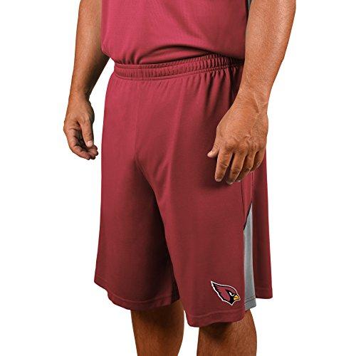 NFL Arizona Cardinals Adult men NFL Plus Synthetic Shorts,2X,Garnet