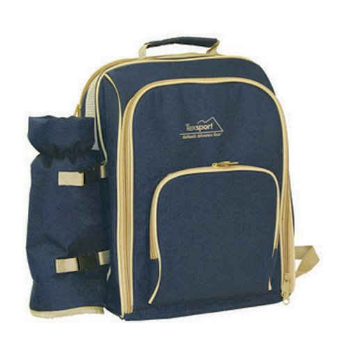 Price comparison product image Texsport Winery Picnic Backpack, Blue/Tan