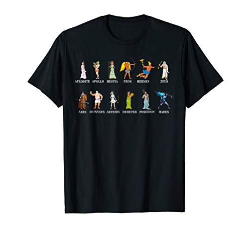 Greek Gods T-shirt Greek Mythology Infographic ()