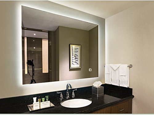 LED Lighted Rectangular Wall Mounted Mirror (32''x24'', LED Lighted) by Hans&Alice