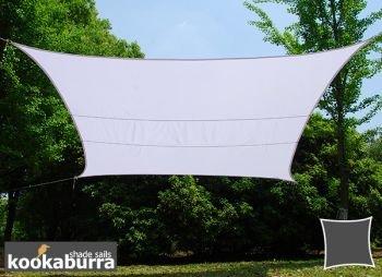 クッカバラ日除けシェードセイル ポーラーホワイト 4x5m長方形 紫外線98%カット 防水タイプ OL4007LREC B079LBQPK8 16995   4x5m長方形