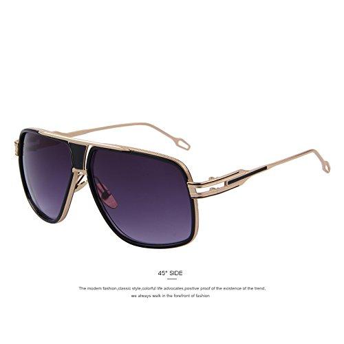 la TIANLIANG04 UV400 que Gray Gris verano gafas grandes gafas de Gafas Oculos sol sol C05 de de Vendimia de estilo C05 Sol de de el Gafas hombres más nuevo los 774qrxwp