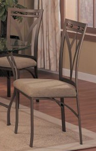 Set Of 4 Dining Chairs   Traditional Bronze Finish