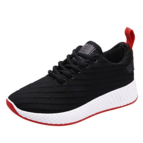 Aurorax-Shoes Clearance Sale Women's Girls Mesh Lightweight Breathable Casual Wedges Sneakers (Lace up Black, US:5.5) by Aurorax-Shoes