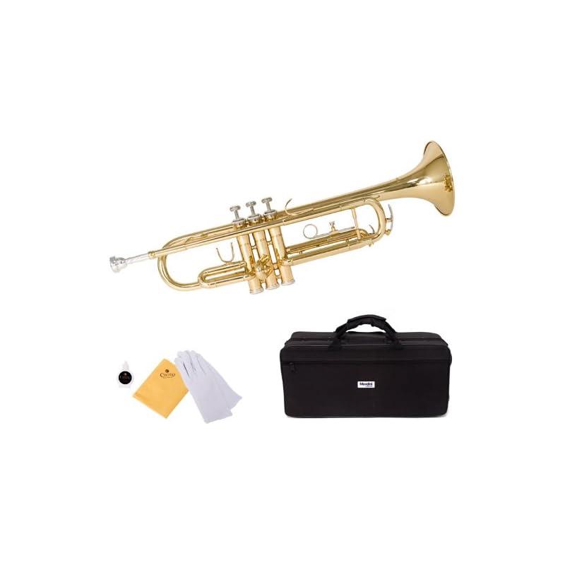 Mendini by Cecilio MTT-L Trumpet, Gold,