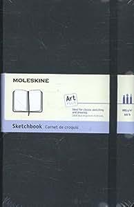 Moleskine - Cuaderno De Bocetos (Tamaño M, Tapa Dura), Color Negro