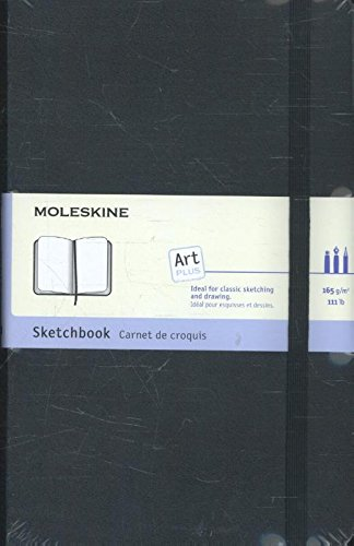 Moleskine Art Plus Sketchbook, Large, Plain, Black, Hard Cover (5 x 8.25) (Classic Notebooks)