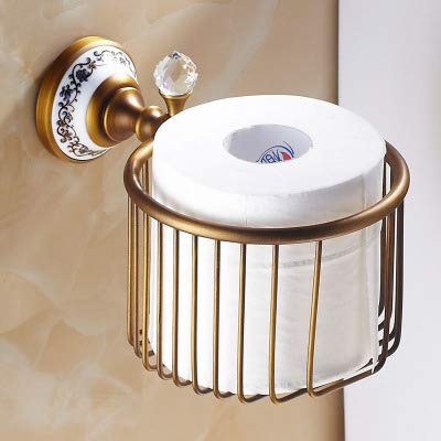 Pipe Bijia All Bronze Antique Towel Rack Blue and White Porcelain European Style Bathroom Hardware Suite Paper net