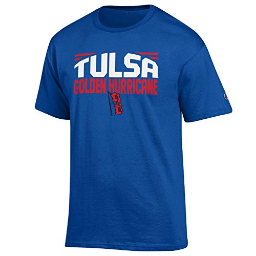Champion NCAA Men's Push Ahead Short Sleeve T-Shirt (Football Ncaa Tulsa)