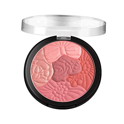 SUSSMAI Petal Blush Petals Carving Five Color Blush Highlights to Trim The Blush Dish Camellia - Health and Beauty, Blush