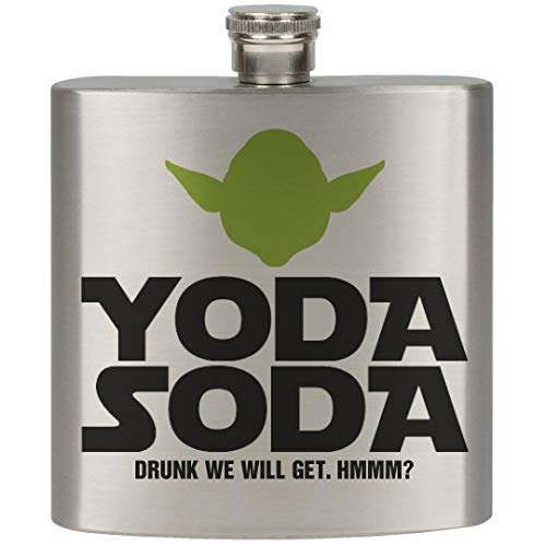 Swig of Yoda Soda?: 6oz Stainless Steel Flask (Star Wars The Force Awakens In Concert)