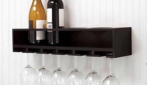 Review Kiera Grace Claret Wine Bottle and Glass Holder Wall Shelf, By Kiera Grace by Kiera Grace