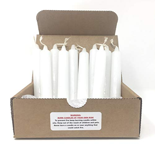 Household White Taper Candles, 3/4
