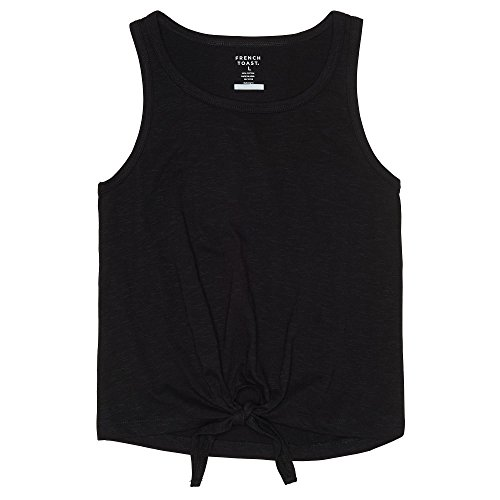 French Toast Girls' Little Tank Top, Black, 5