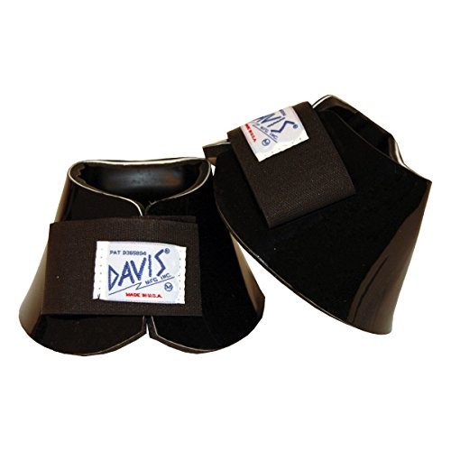 Davis No Turn Bell Boots With Ez Pull Fasteners - Small - Black